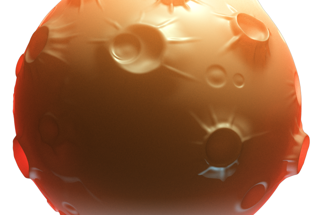 Game Asset: Planet with Sub Surface Scattering