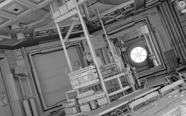Space Station Project Ambient Occlusion3