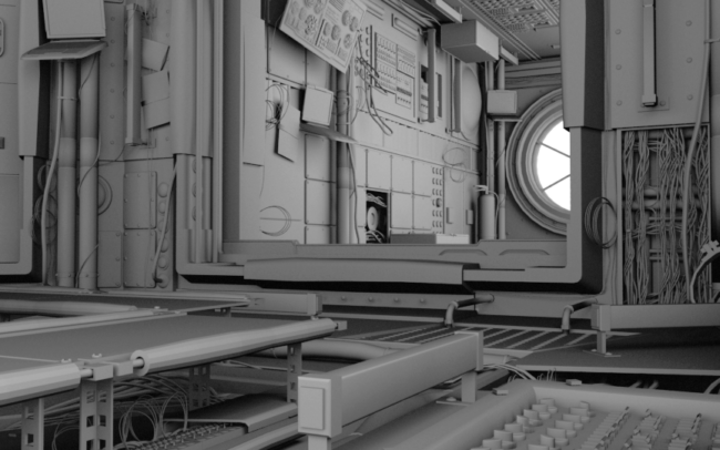 Space Station Project Ambient Occlusion1